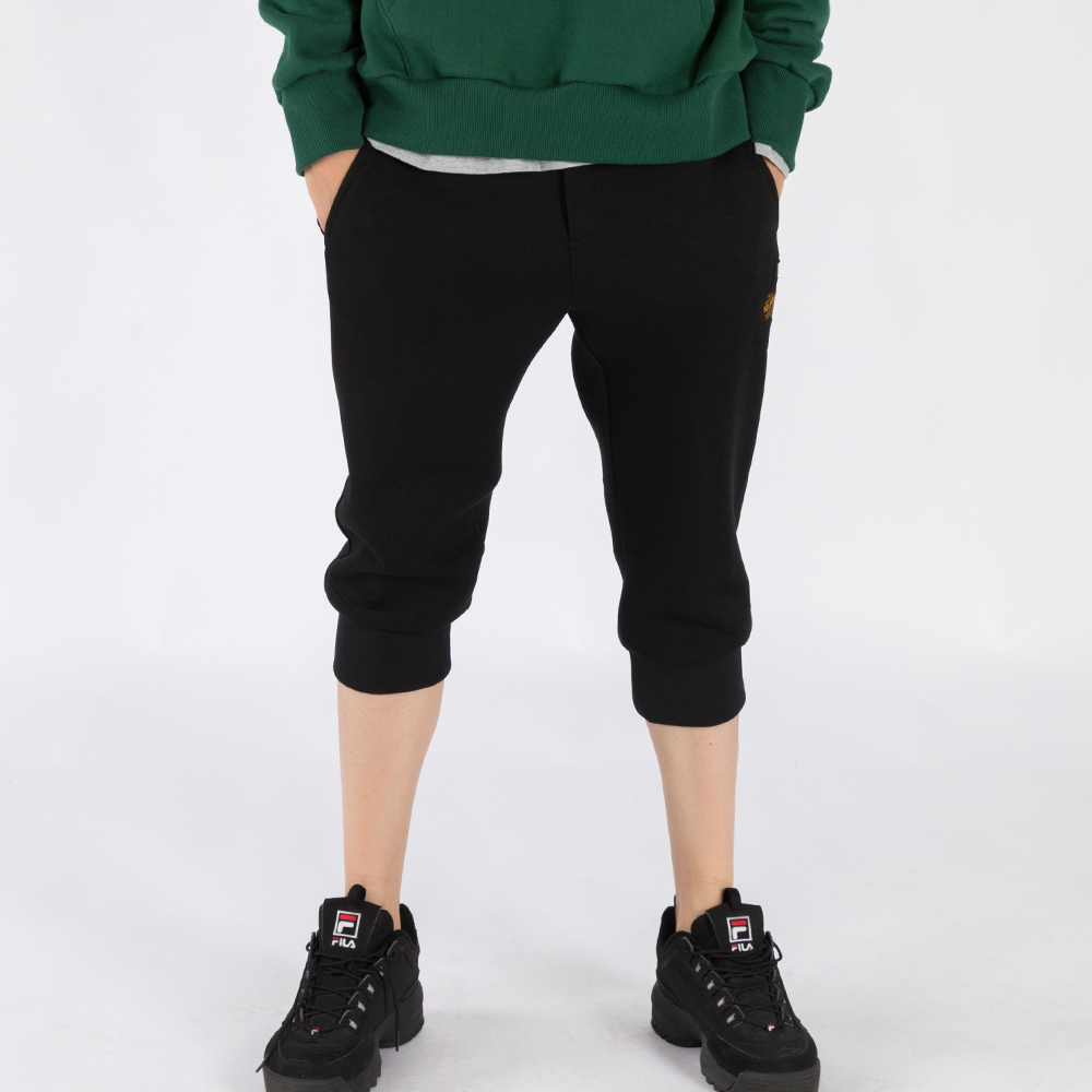 MAN'S PREMIUM BONDING CROPPED PANTS (SAF3SP02) (BLACK)