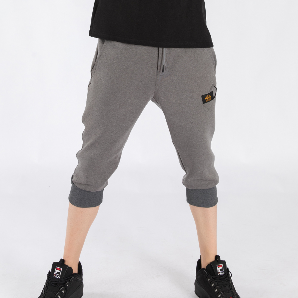 MAN'S PREMIUM BONDING CROPPED PANTS (SAF3SP02) (GREY)