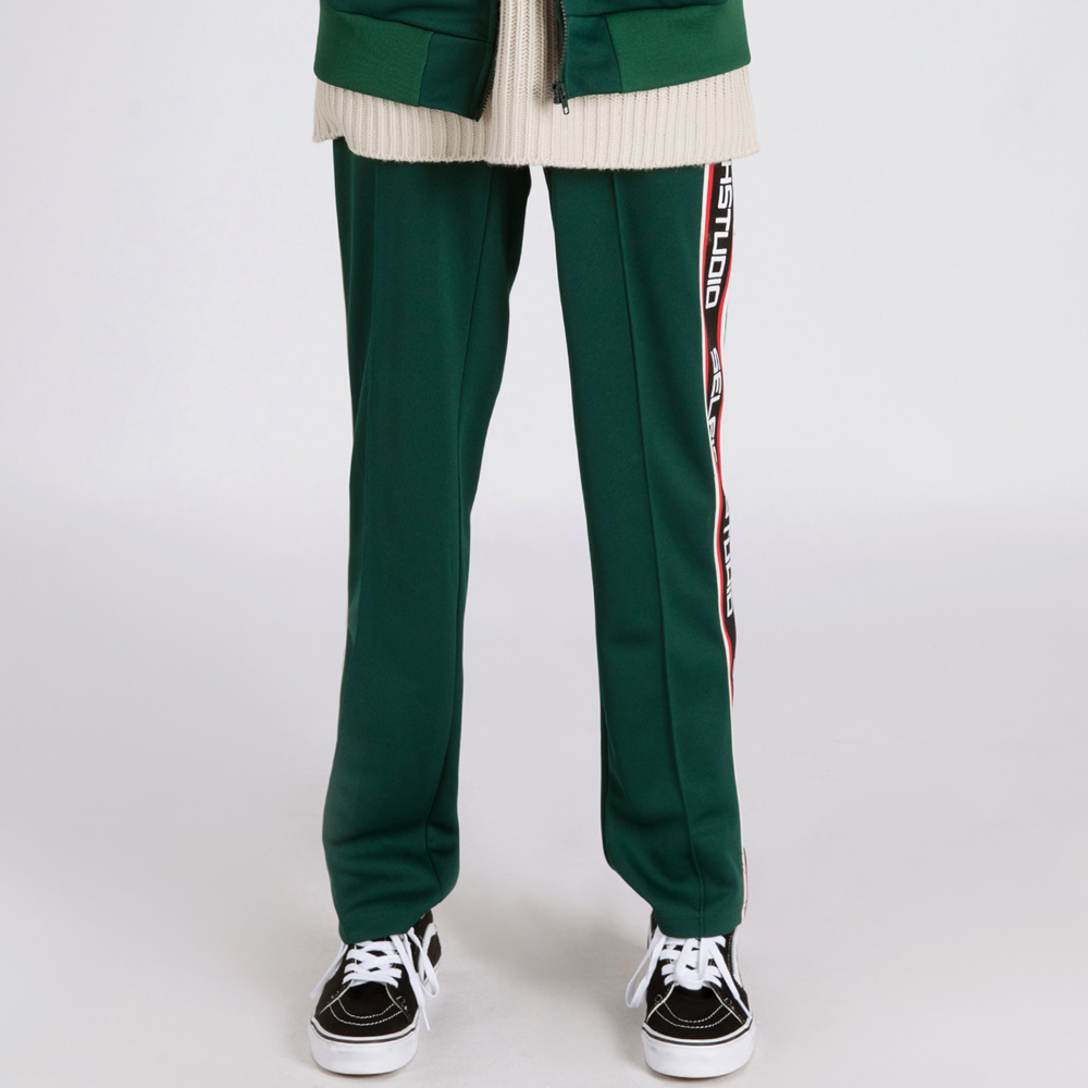 LOGO TAPE TRACK PANTS (SAF3TR04) (GREEN)