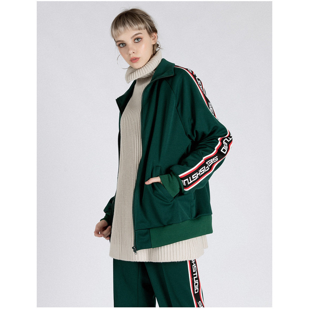 LOGO TAPE TRACK SUIT SET (GREEN)